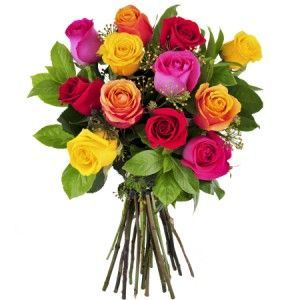Roses all colors 12 MultiColor Roses Kuwait